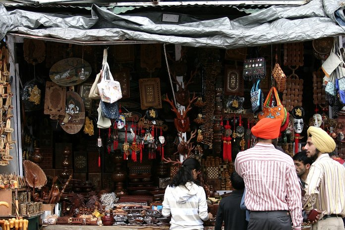 A shop in Lakkar Bazaar, Shimla
