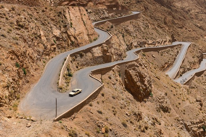 Winding and serpentine roads in the hills and mountains can be dangerous. So go slow