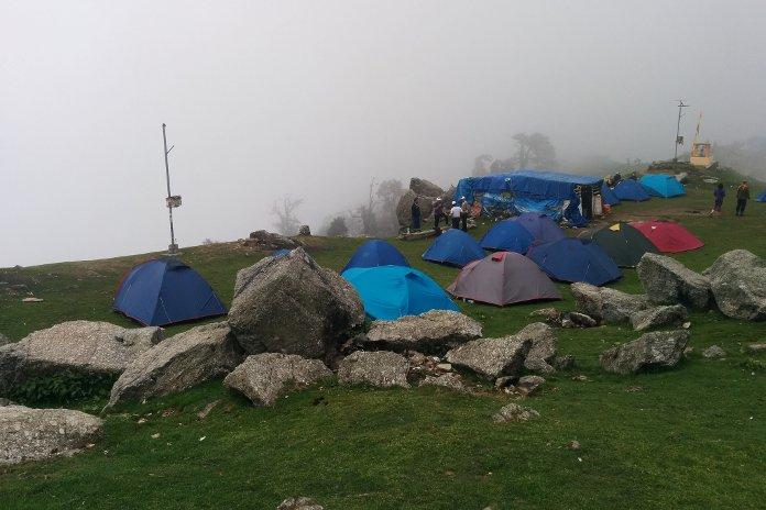 A hiking camp near Triund