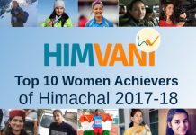 HimVani Top 10 Women Achievers of Himachal 2017-18