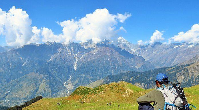 On the way to Bhrigu Lake in Kullu, Himachal