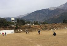 A view from the police ground, Dharamshala